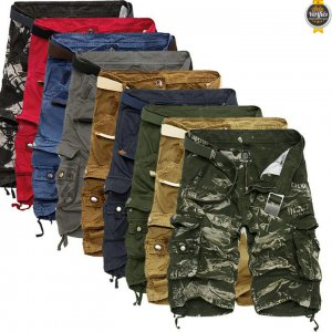 2021 Chaude Pantalons Courts Cargo Camouflage Homme
