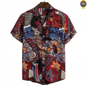 2021 Chaude Chemise Africaine manche courte