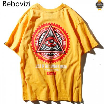2021 Chaude Tee shirts Triangle illuminati oeil Hip Hop